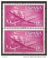 ES1174-LA974TSC.Spain Espagne SUPER-CONSTELLATION Y NAO SANTA MARIA 1955/56.(Ed.1174**)sin Charnela LUJO  BLOQUE DE 2 - Sin Clasificación