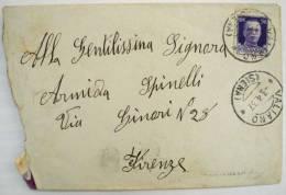 ITALIA REGNO 1937 DA VALIANO SIENA  PER FIRENZE - X1 - Storia Postale