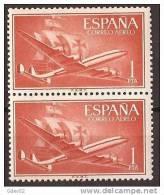 ES1172-A972TO.Spain Espagne SUPER-CONSTELLATION Y NAO SANTA MARIA 1955/56.(Ed. 1172**)sin Charnela LUJO  BLOQUE DE 2 - Otros