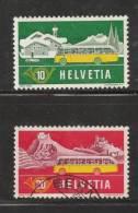 SWITZERLAND 1953 Used Stamp(s) Alpin Post 586-587 #3710 - Switzerland