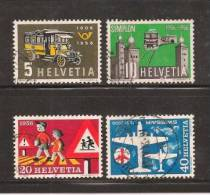 SWITZERLAND 1956 Used Stamp(s) Mixed Issue 623-626 #3715 - Switzerland