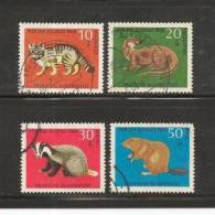GERMANY 1968 Cancelled Stamp(s)  Youth Small Animals 549-552 - [7] Federal Republic