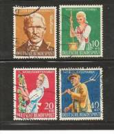 GERMANY 1958  Cancelled Stamp(s) Welfare Africultural 297-300 - [7] Federal Republic