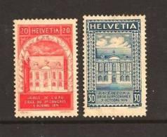SWITZERLAND 1924 Used Stamp(s) U.P.U. 192-193 #3654 - Switzerland