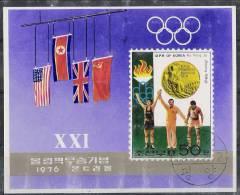 Korea DPRK 1978 - Olimpic Games Montreal 1976 Souvenir Sheet Cancelled Very Fine - Verano 1976: Montréal