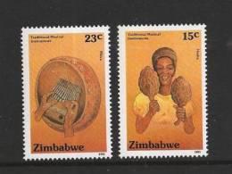 ZIMBABWE 1991 MNH Stamp(s) Traditional Music Instr 454=459 #5114 2 Values Only - Zimbabwe (1980-...)