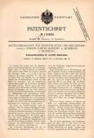 Original Patentschrift - Brückenbau AG , J- Harkort In Duisburg , 1898 , Versteifte Kabel - Brücke , Kabelbrücke !!! - Architektur