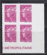 = Marianne Beaujard Autocollant Boutique Pro Coin Bas Droit De Feuille France LP 100g X4 N°595 Type Du N°4570 Gommé - 2008-13 Marianna Di Beaujard