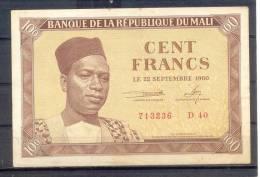 Mali 100 Fr P 2 AU  SUP  Rare - Billets