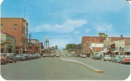 Riverton WY Wyoming, Street Scene, Drug Store Autos Bar, C1950s Vintage Postcard - Riverton