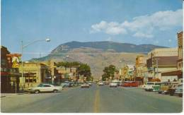 Cody WY Wyoming, Street Scene, Autos, Drugs Sign, Bar Cafe Buffalo Bill Cody Sign, C1950s/60s Vintage Postcard - Cody