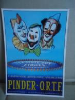Carte Postale Pinder Ortf Clowns - Zirkus