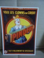 Carte Postale Pinder Clown Accordéon - Zirkus