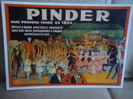 Carte Postale Cirque Pinder Défilé - Zirkus