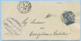 1908 CALABRIA PIEGO MICHETTI C.15 TRRANOVA DI SIBARI 8.9.08 A CORIGLIANO TIMBRO ARRIVO E OTTIMA QUALITÀ (A50) - Storia Postale