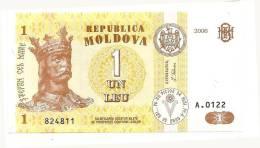 Moldova-1 Ley 2006 UNC - KING - Moldova