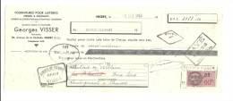 Lettre De Change, Mandat, Georges Visser - NIort (79) - 1943 - Lettres De Change