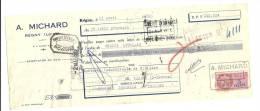 Lettre De Change, Mandat, A. Michard - Régny (42) - 1952 - Lettres De Change