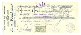 Lettre De Change, Mandat, Papeteries Emile Venthenat - Barbezieux (16) - 1930 - Lettres De Change