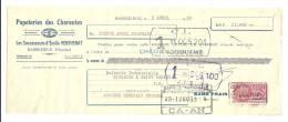 Lettre De Change, Mandat, Papeteries Emile Venthenat - Barbezieux (16) - 1952 - Lettres De Change