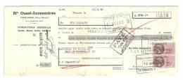 Lettre De Change, Mandat, Ets Ouest-Accessores - Thouars (79) - 1943 - Lettres De Change