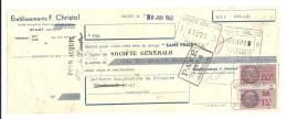 Lettre De Change, Mandat, Etablissements F. Christol - Niort (79) - 1943 - Lettres De Change