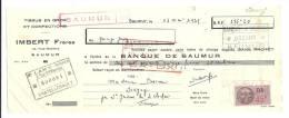 Lettre De Change, Mandat, Imbert Frères - Saumur (49) - 1939 - Lettres De Change