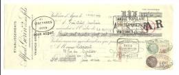 Lettre De Change, Mandat, Ets ALfred Gérins & Ses Fils - Valence D'Agens (82) - 1932 - Lettres De Change