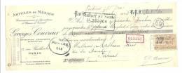Lettre De Change, Mandat, Georges Couvreur - Paris (75) - 1923 - Lettres De Change