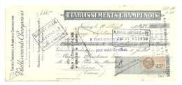 Lettre De Change, Mandat, Ets Champenois - Chamouilley (52) - 1929 - Lettres De Change