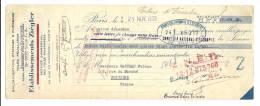 Lettre De Change, Mandat, Ets Ziégler - Paris (75) - 1938 - Lettres De Change