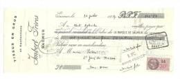 Lettre De Change, Mandat, Imbert Frères - Saumur (49) - 1937 - Lettres De Change