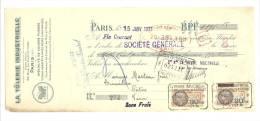 Lettre De Change, Mandat, La Tôlerie Industrielle - Paris (75) - 1931 - Lettres De Change