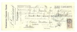 Lettre De Change, Mandat, P. Guérinet - Saumur (49) - 1928 - Lettres De Change