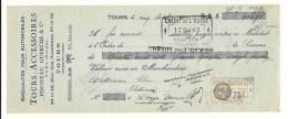 Lettre De Change, Mandat, Tours Accessoires - Tours (37) - 1933 - Lettres De Change