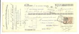 Lettre De Change, Mandat, Fonderie - Anciens Ets P. Lebolond - Le Mans (72) - 1925 - Lettres De Change