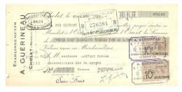 Lettre De Change, Mandat, Ets A. Guérineau - Cholet (49) - 1922 - Lettres De Change