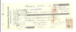 Lettre De Change, Mandat, P. Experton-Revollier - Renage (38) - 1925 - Lettres De Change