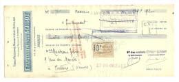 Lettre De Change, Mandat, Ets Sercot - Paris (75) - 1925 ? - Lettres De Change
