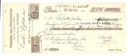 Lettre De Change, Mandat, Emile Azan, Succ. - Paris (75) - 1927 - Lettres De Change