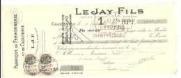 Lettre De Change, Mandat, Fabrique De Ferronnerie Et De Clouterie (L.J.F.) - Charleville (08) - 1935 - Lettres De Change
