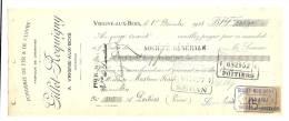 Lettre De Change, Mandat, Fonderie Gillet - Roquigny - Vrigne-aux-Bois  (08) - 1923 - Lettres De Change