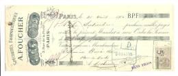 Lettre De Change, Mandat, A. Furnier - Paris (75) - 1906 - Lettres De Change