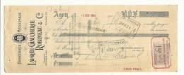Lettre De Change, Mandat, Lapré-Chaucherie-Robinea U & Cie - Agen (47) - 1906 - Lettres De Change