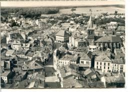 2 Scans - 88 RAMBERVILLERS - Vue Générale Aérienne Vers L'église - Véritable Photo Au Bromure - Rambervillers