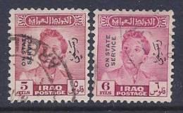 Iraq, Scott # O127-8 Used Officials, 1948 - Iraq