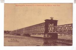 AALBORG Jernbanebroen Advertissment Mantequilla Danesa P.F. Esbensen Cover Stamp Honduras 1912 - Danemark