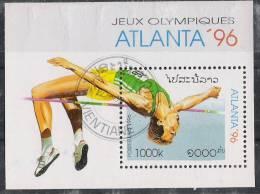 Laos 1996 - Olympic Games Atlanta 96 Souvenir Sheet Cancelled Very Fine - Verano 1996: Atlanta