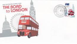 Australia 2012 The Road To London  FDC - Ersttagsbelege (FDC)