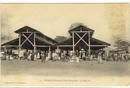 Carte Postale Ancienne Guinée - Kankan. Le Marché - Commerces - French Guinea